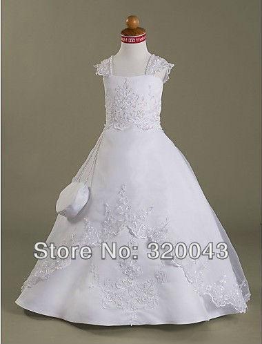 A-line Capped Floor-length NY003 Organza Communion Dress