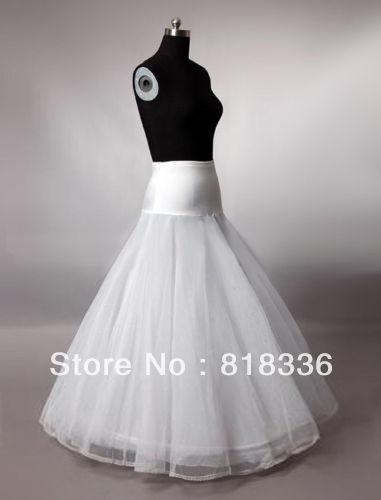 A-Line White Wedding Petticoat Bridal Slip Underskirt Crinoline For Wedding Dresses ********Hot Sale!