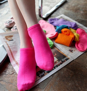 A006 Amberlababy 2012 solid colorful cotton sock sports socks slippers
