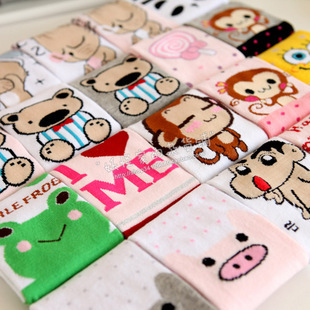 A015 lovely candy color cotton cartoon socks 30 pairs/lots free shipping