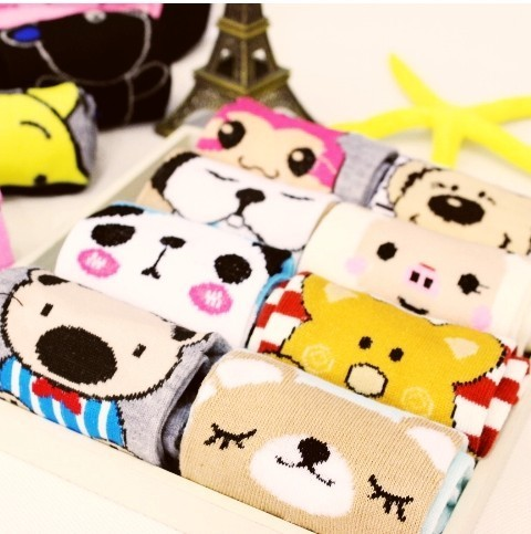 A038 lovely cartoon cotton socks high quality long design 30 pairs/lots free shipping