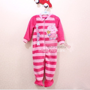 Above 2 Peppa pig pink girl rompers for toddlers,baby romper,big size romper Christmas gift,on sale,factory price,100%cotton