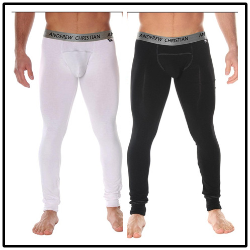 Ac autumn and winter male ultra-thin thermal trousers legging male modal underpants trousers
