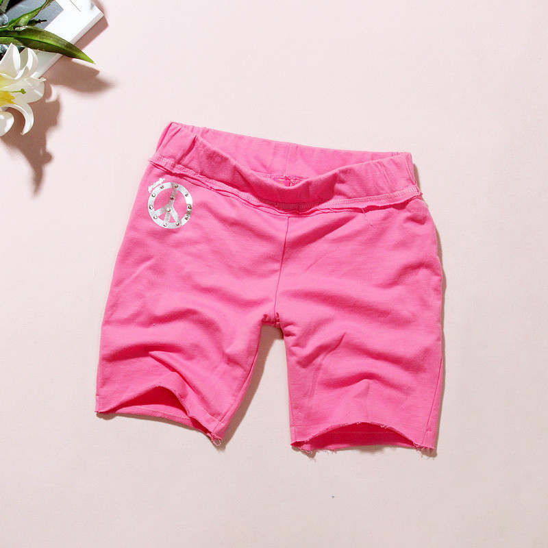 All-match casual 100% cotton comfortable roll-up hem shorts - - d809