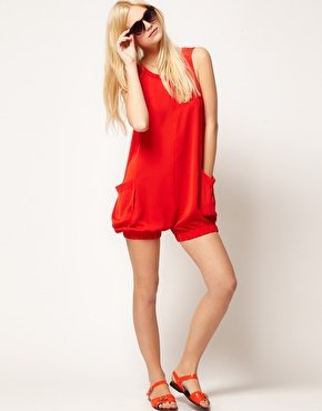 ASOS Bloomer Playsuit   free shipping for epacket and cpam
