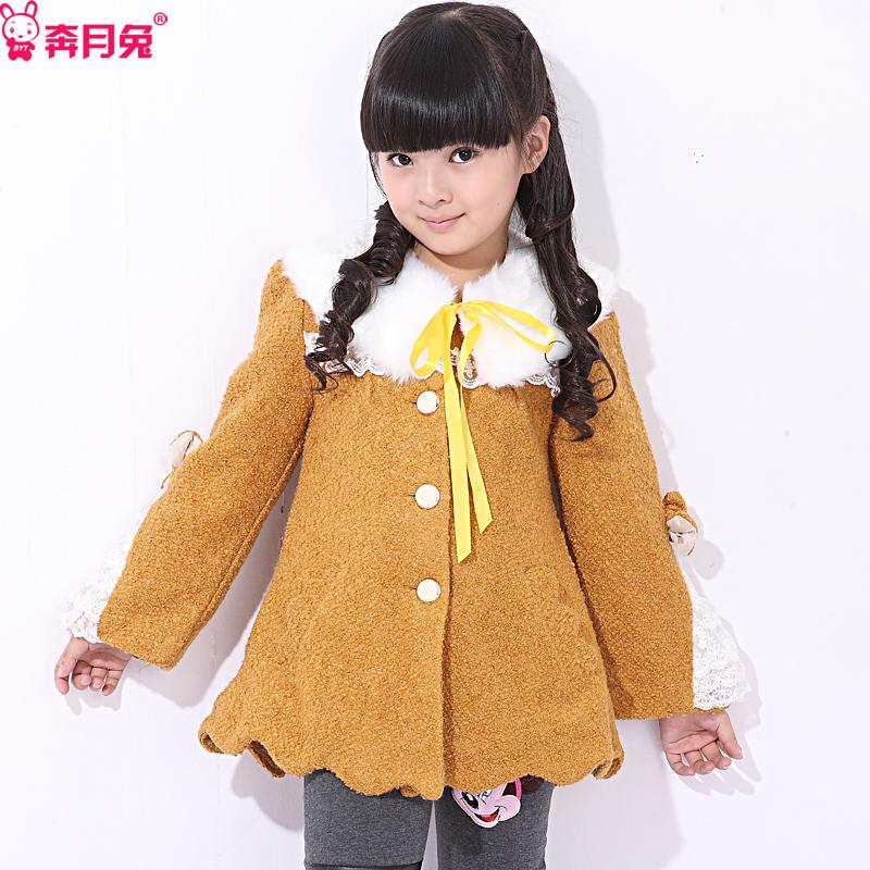 Autumn 2012 children's clothing female child woolen overcoat child trench cardigan 12042
