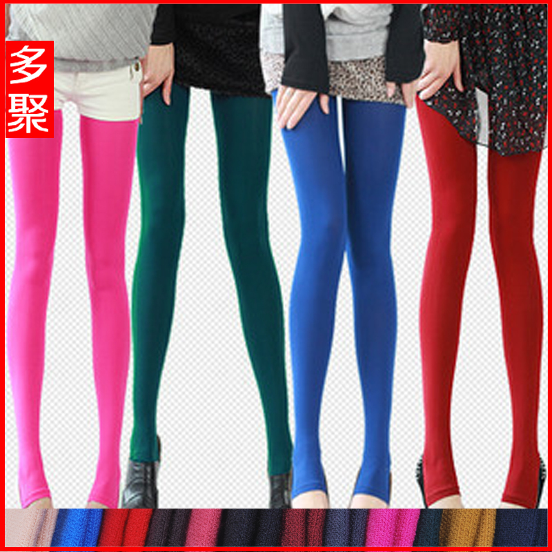 Autumn and winter all-match plus velvet legging pants step stockings plus size clothing solid color