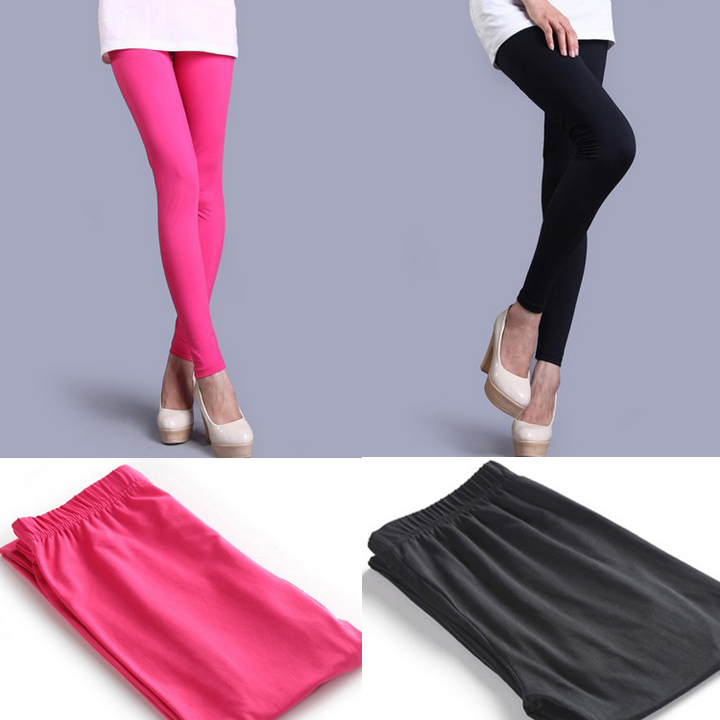 Autumn and winter candy color plus velvet thickening legging ankle length trousers elastic milk silk all-match tights female