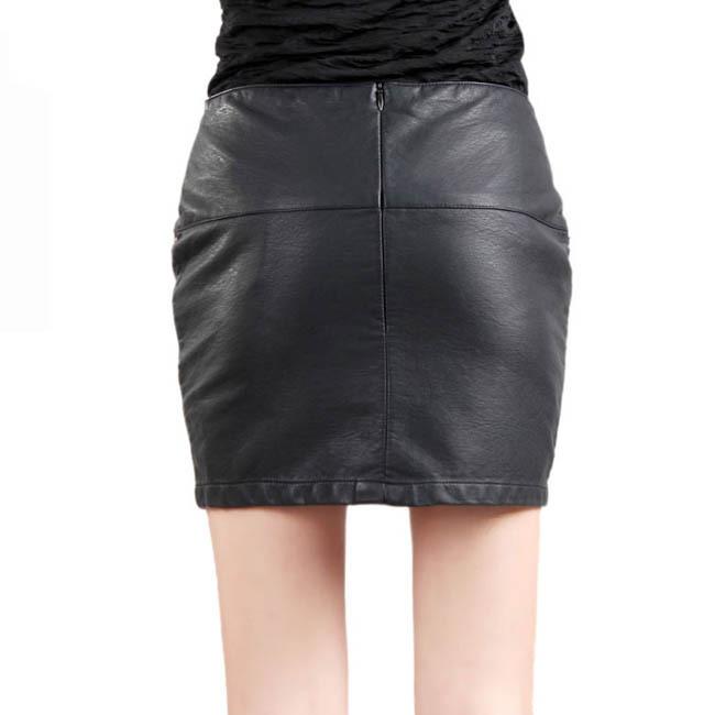 Autumn outfit hot new PU commuter OL package hip skirt A word skirt/leather skirt/skirts for women sexy miniskirt