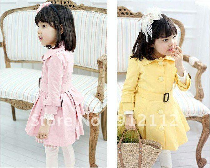 B2W2 Girls' overcoat Girls outerwear Girls windbreaker coats Girl wind coat 5pcs/lot