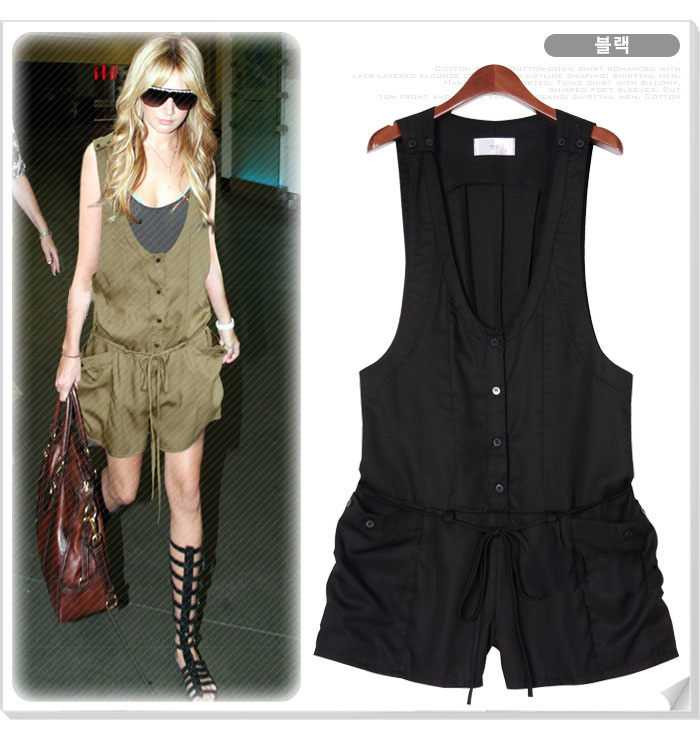 balck or coffer color Jumpsuit one piece easy to match free size free shipping