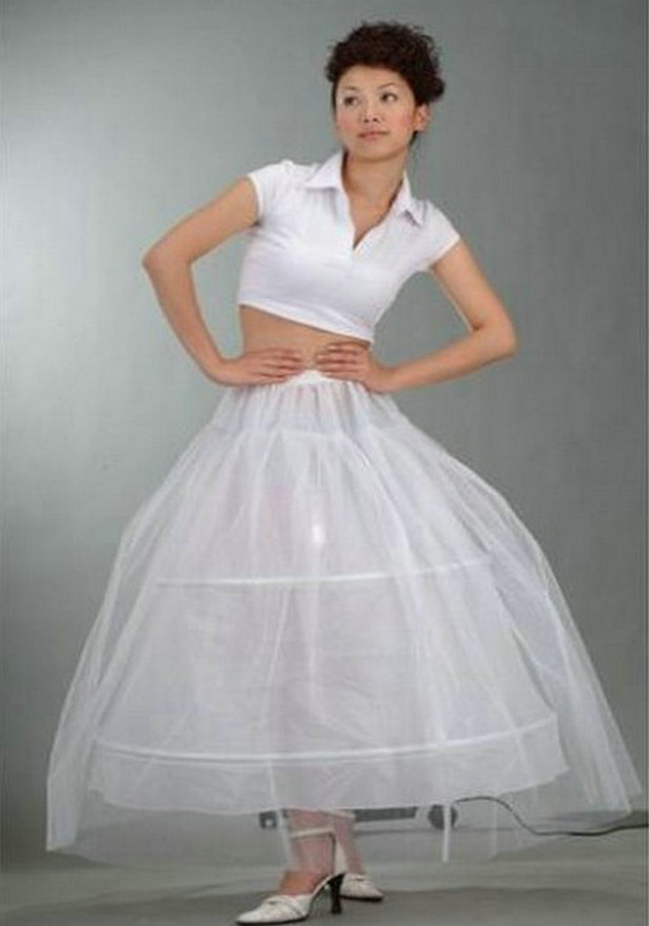 Ball Gown A Drawstring Waist Free Size Wedding Gown Petticoat