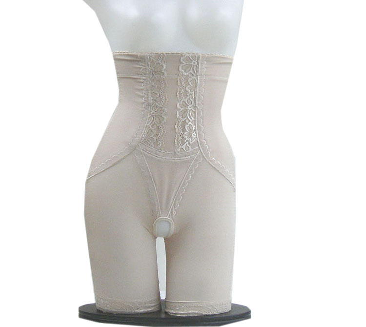 Bamboo high waist abdomen thin waist drawing butt-lifting plastic pants stovepipe beauty care body shaping pants corset pants