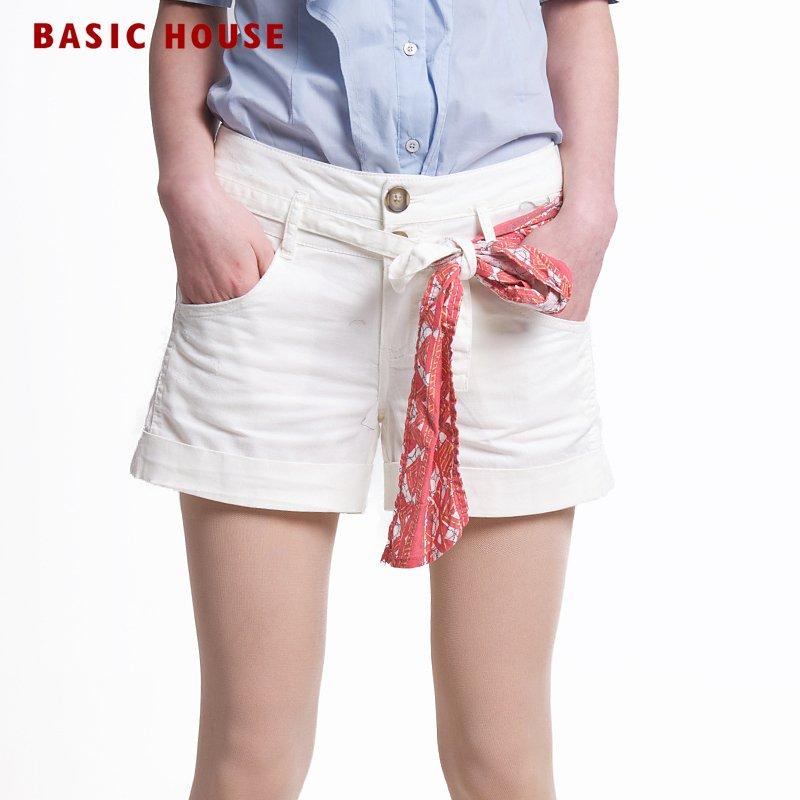BASIC HOUSE Women small fresh shorts hlpt324c
