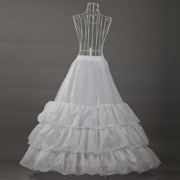 Beautiful A-line White Long Wedding Dress Petticoat/crinoline