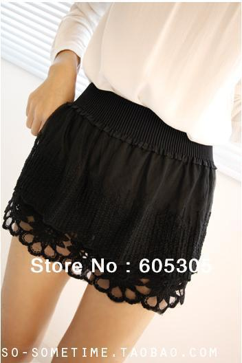 BEAUTY HOUSE, a small flower lace skirt New Fashion Free Shipping 5012