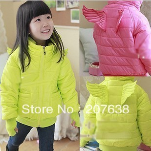 Best Selling!!Children's clothing winter coat girl cotton-padded jacket+free shipping
