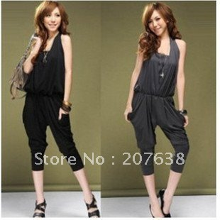 Best selling! Lady's Halter fashion Jumpsuit +free shipping Retail&Wholesale