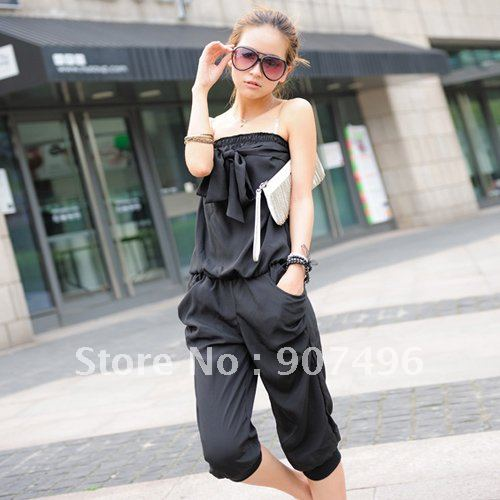 Best Selling!women cute  jumper off shoulder overall casual romper+free shipping Retail&Wholesale