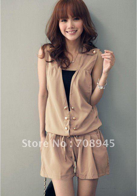 Best Selling!!Women Fashion Sleeveless Romper Strap Short Jumpsuit+Free shipping  Retail&Wholesale