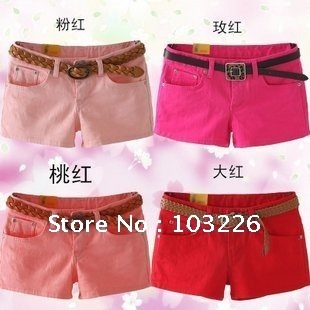 Best Selling Women's Colorful Candy Pencil short Pant/Hot Pant