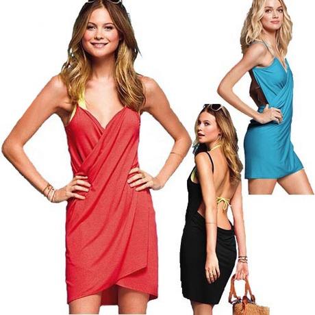 BI3003C Women's VS Sexy Candy Color Beach Straped Dress, Women's Beach wear,Cover-Ups, freeshipping