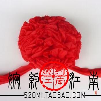 Big red flower wedding guelder sistance guelder wedding supplies chinese style wedding roll-up hem