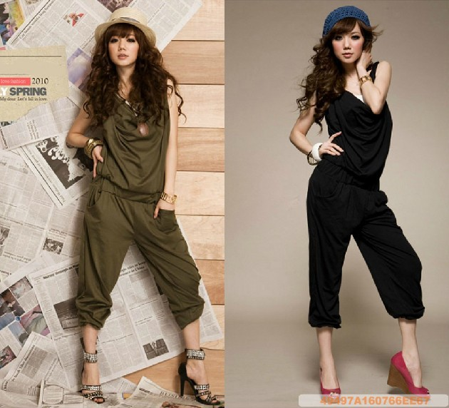 black/Army Green summer Pantyhose clothing New Slim the casual pants jumpsuit pants coveralls