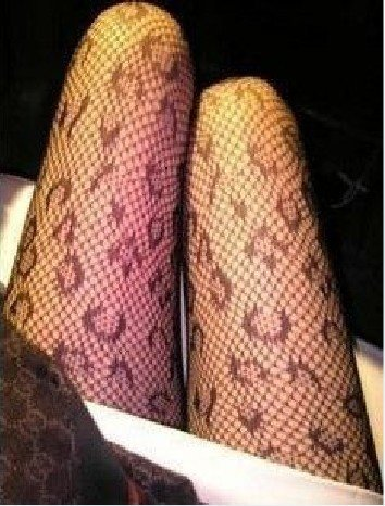 Black Fishnet Sexy Slimming Solid Hosiery leopard grain Tights Pantyhose Women's