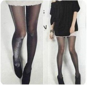Black Shiny Pantyhose Glitter Stockings Womens Glossy Tights