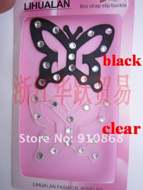 Bra Strap Clip Cleavage Control Clip Ladies  butterfly type bar buckle with crystal diamond original packing
