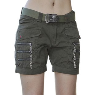 Brand:Freeknight Model Mumber:0967#  Women Summer Fashion Shorts Color:Army Green Size:XS S M L XL