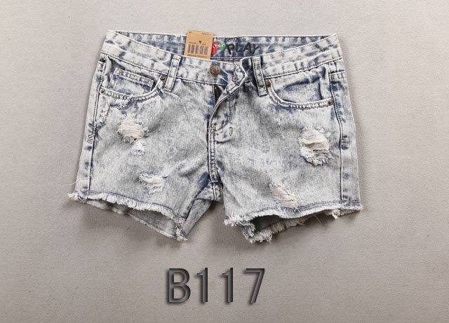 Brand new Lady denim shorts,women's jeans shorts,hot sale ladies' denim short pants size:26-32,free shipping  B117