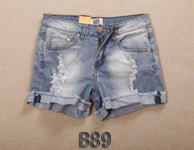 Brand new Lady denim shorts,women's jeans shorts,hot sale ladies' denim short pants size:26-32,free shipping B89