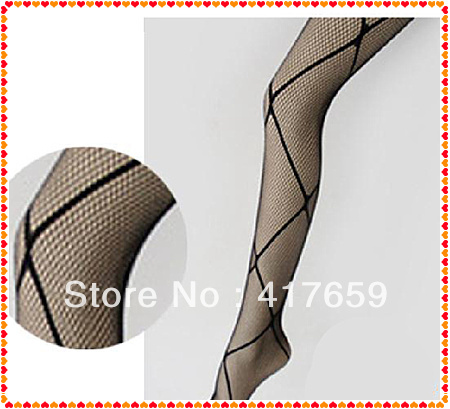 Brand NewHigh Quality1pcs Fashion Sexy Black Fishnet Stocking Cross Net Tights Pantyhose Free shipping