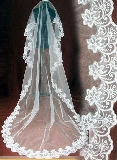 Bridal veil 3m veil color whitest sistance of customize long measurement