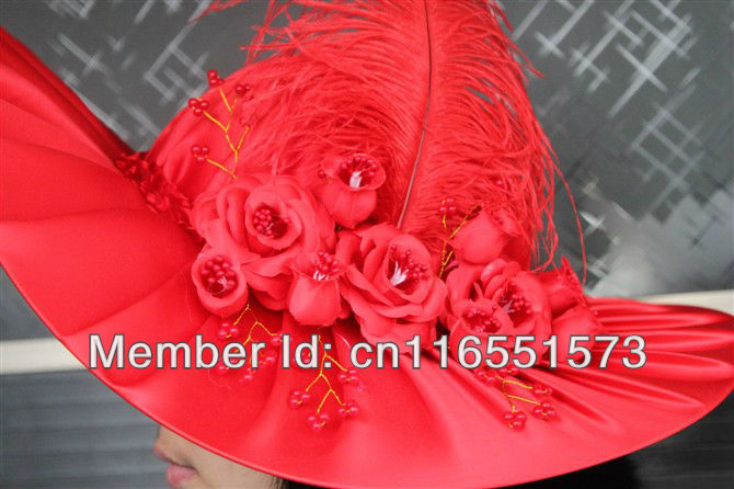 bride bridesmaid mother wedding Important occasions ladies cap hats headwear topee sun hat sunbonnet