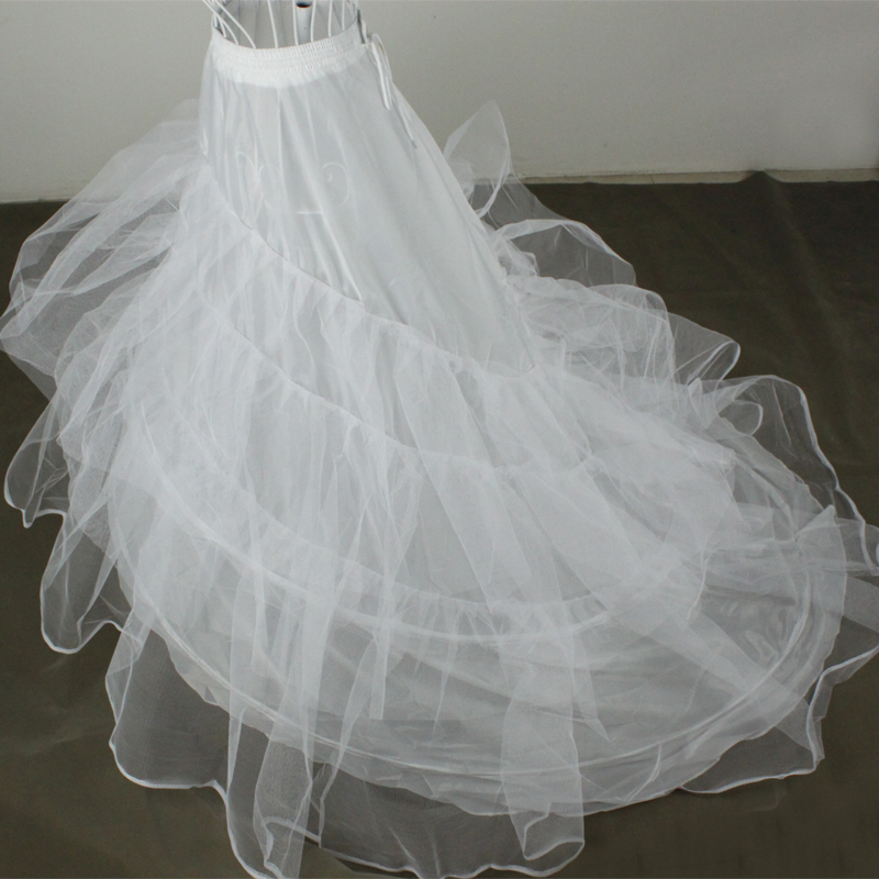 Bride bustle train formal wedding dress accessories double layer yarn wire ultralarge panniers y11004