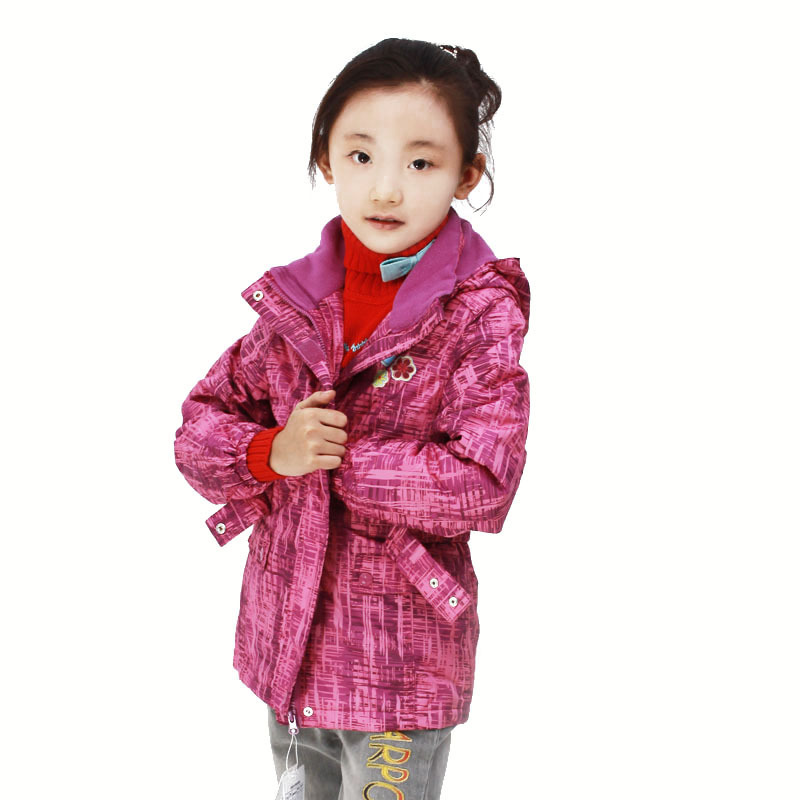 Carbo female child autumn outerwear child casual jacket outdoor jacket children's clothing trench wadded jacket coat