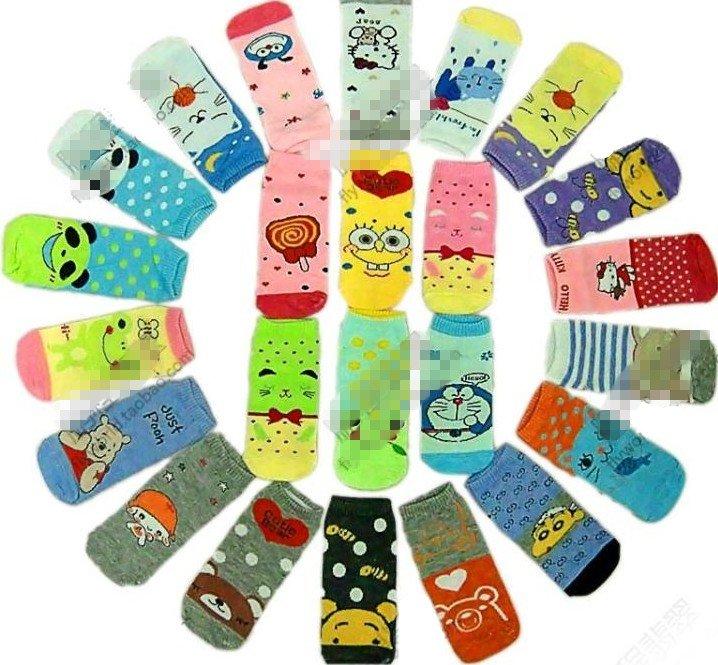 Cartoon socks / Lovely socks (Short  Size) Many Designs wholesale free shipping