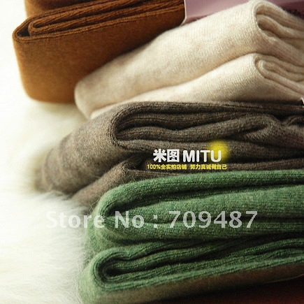 Cattle senior thickening quality soft villus socks autumn and winter thermal pantyhose 12