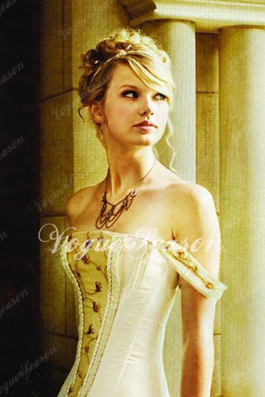 celebrity dress taylor swift love story wedding dress