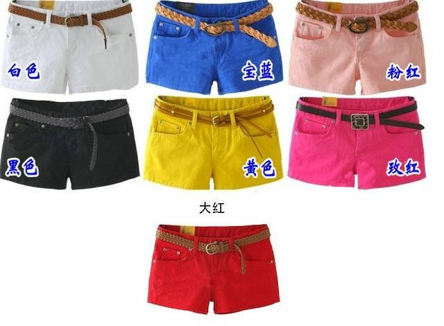 Cheap and fine 100% cotton   Women's shorts (10 colours 4 size to choose) Free shipping  Promotion price