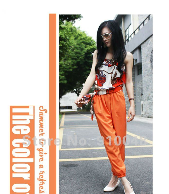 chiffon jumpsuit / sexy overall / joined bodies clothing / wholesale & retail / free shipping
