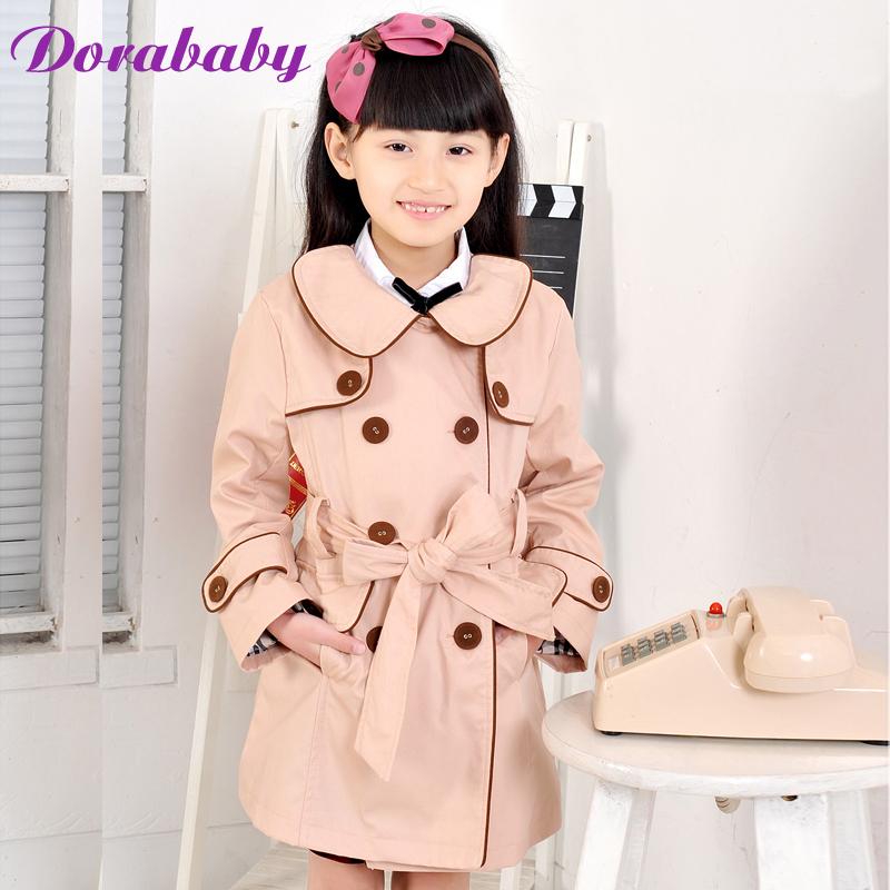 Child dorababy female child autumn 2012 child trench elegant pink outerwear da91