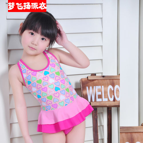 Child swimwear female child one piece swimwear female baby little girl swimsuit and infants 48