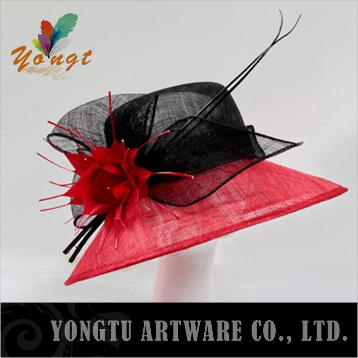 christmas accessories Factory product ! Free shipping ! sinamay fascinator bridal hats in the wedding can choose different color