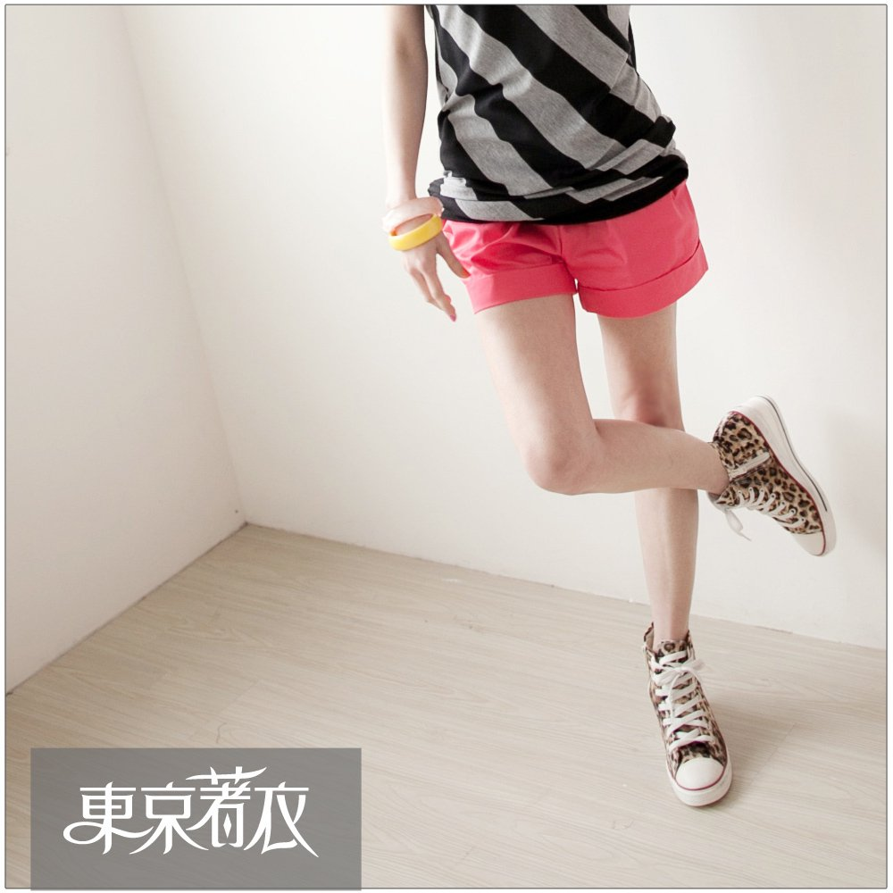 Clothing loose and comfortable solid color pocket retrorse shorts 1007401