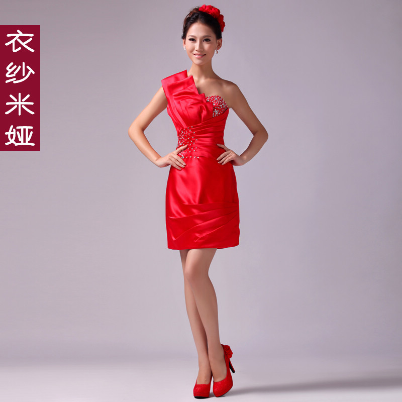 Clothing yarn short design formal dress lf009 (WS002)