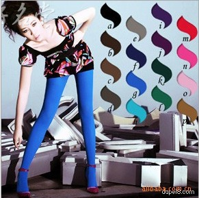 colorful Han edition of grid hollow out pantyhose nets socks sexy socks female stockings